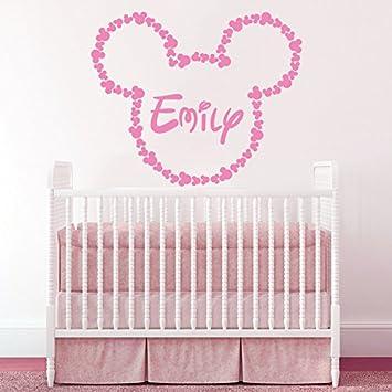 Micky Maus Kinderzimmer | Wandaufkleber Fur Madchen Personlich Name Micky Maus Ohren