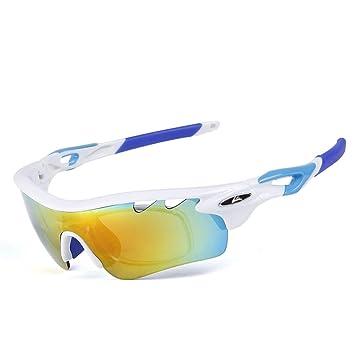 MUTANG Gafas de montar polarizadas de los deportes con 2 sistemas de hebilla del cambio del