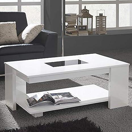 Mesa salón elevable Blanca Design Mosa: Amazon.es: Hogar