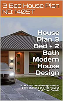 Amazon.com: House Plan 3 Bed + 2 Bath Modern House Design ...