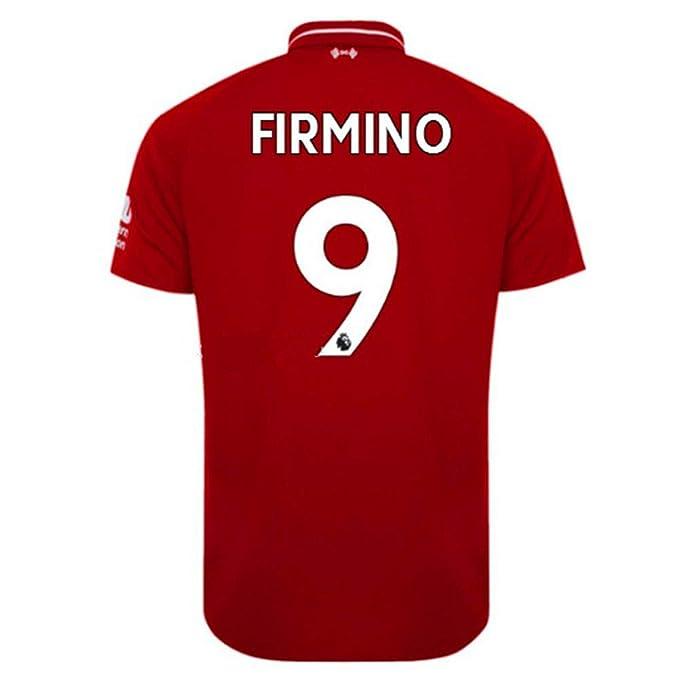 Amazon.com: Liverpool Home Firmino 2018-2019 - Camiseta de ...