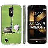 "LG [K20 V/ K20 plus] LG Harmony Soft Mold [Mobiflare] [Clear] Thin Gel Protect Cover - [Golf Drive] for LG [K20 V/ K20 plus/ Harmony] [5.3 "" Screen]"