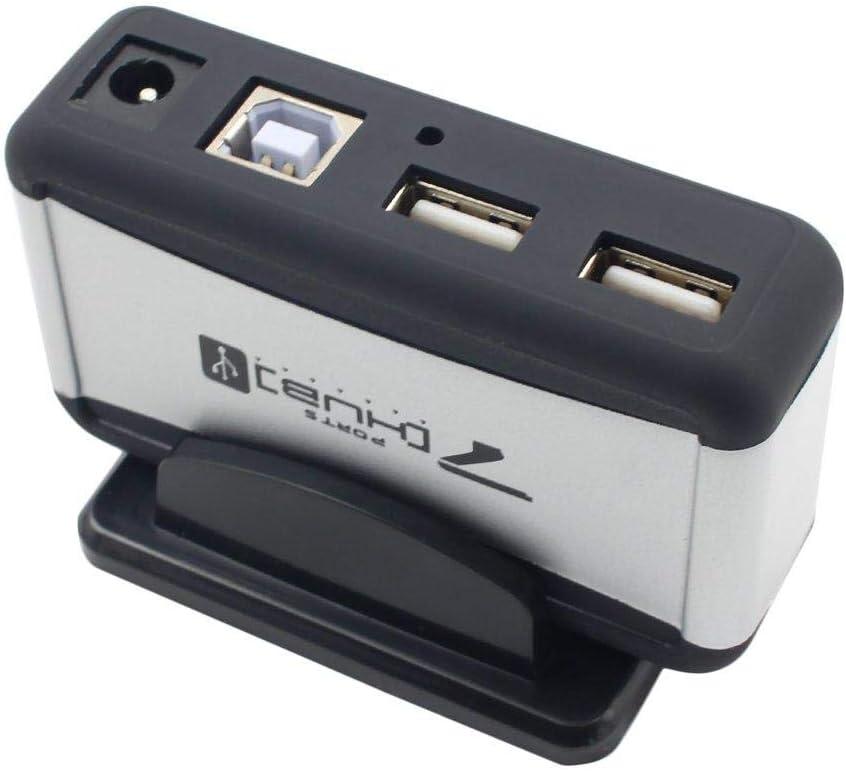 Hendont 7Port USB 2.0 Hi Speed Multi HUB Expansion with Power Adaptor for PC Laptop Micro USB HUB 7 Port