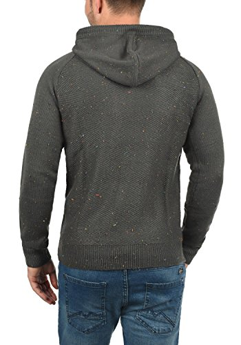 solid Maille over À Pull Coton Capuche Dark Homme Pour Tricot Balduin En 100 Pull 2890 Grey pawpqF