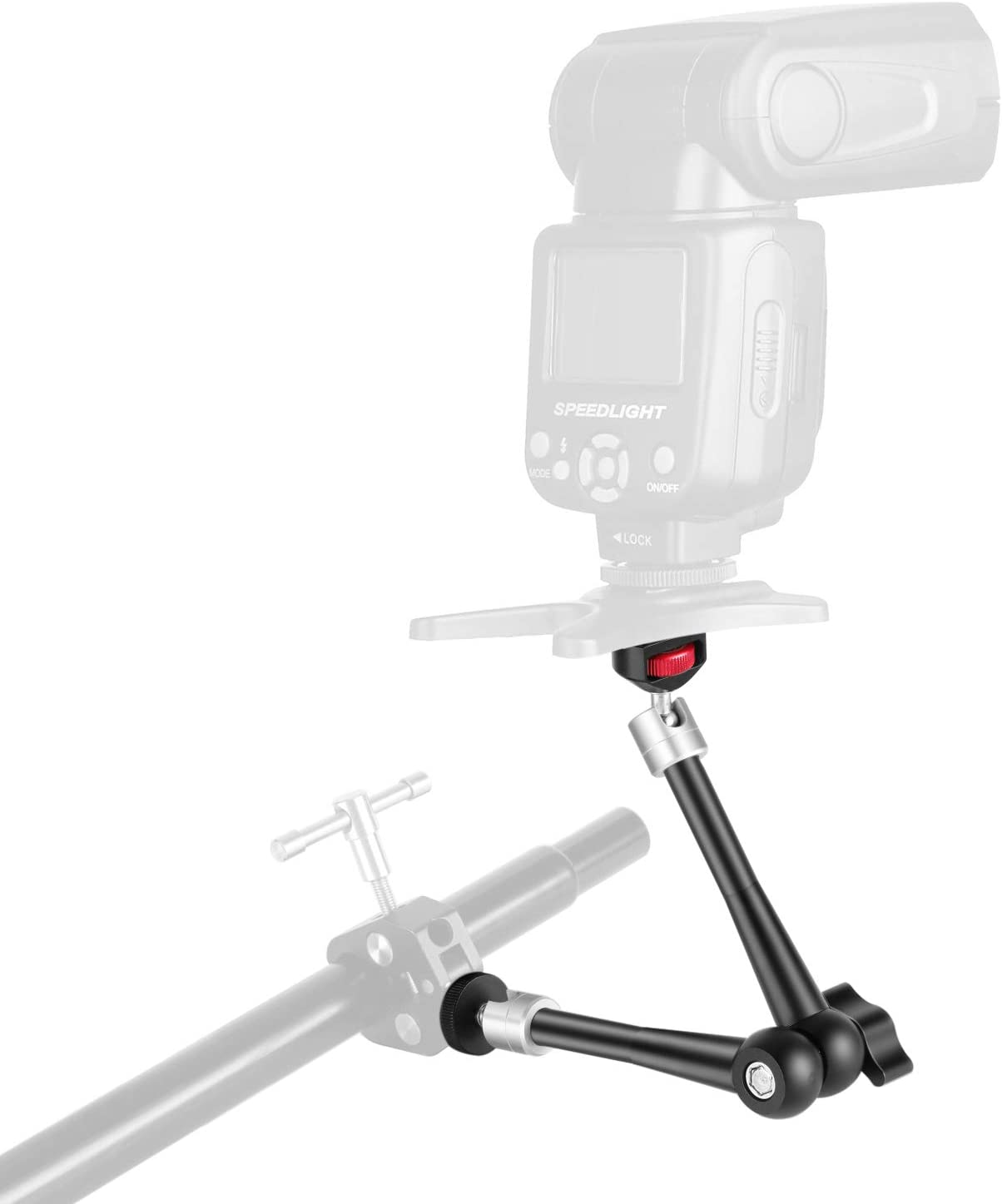 Robust Aluminum Alloy for DSLR//Mirrorless Cameras Neewer 11 inches Adjustable Articulating Friction Magic Arm with Super Clamp LED Light Field Monitor Video Vlog Rig Flash Light Camcorders