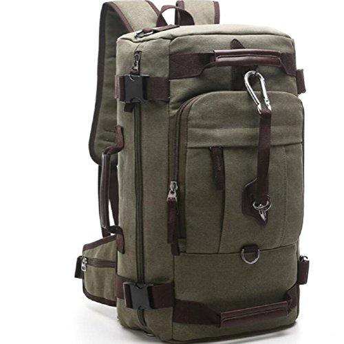 ZC&J 26L capacidad bandolera, bolsas bolsa de mensajero de usos múltiples recorrido de la lona, bolsos de mano para los hombres y las mujeres usan sólida cero simple y práctico,A,26L C