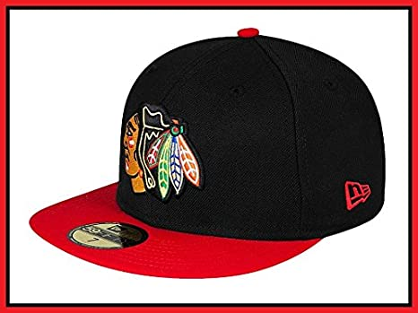 49444a07f3589f New Era Hat NHL Chicago Blackhawks 2tone Primary Black/red Fitted Cap (7)