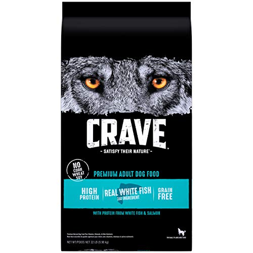 CRAVE Grain Free High Protein Adult Dry Dog Food, White Fish & Salmon
