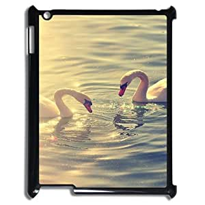 3D Pharrel Duck IPad 2,3,4 2D Case Searching Fish by Duck Protective Cute for Girls, Ipad Case for Ipad 2, [Black]