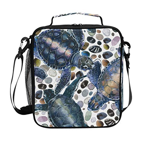 XMCL Sea Animal Tortoise Turtle Insulated Lunch Bag Cooler Lunchbox Food Container Bento Box for School Office Pinic for Teens Girls Women