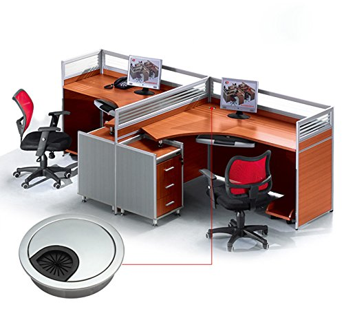 2x Qrity Metal Round Computer Desk Grommet Cable Hole Covers for Management of Office & Computer Desk, Hole Dia 53mm by QRITY (Image #5)