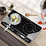 Duxtop LCD Portable Double Induction Cooktop 1800W