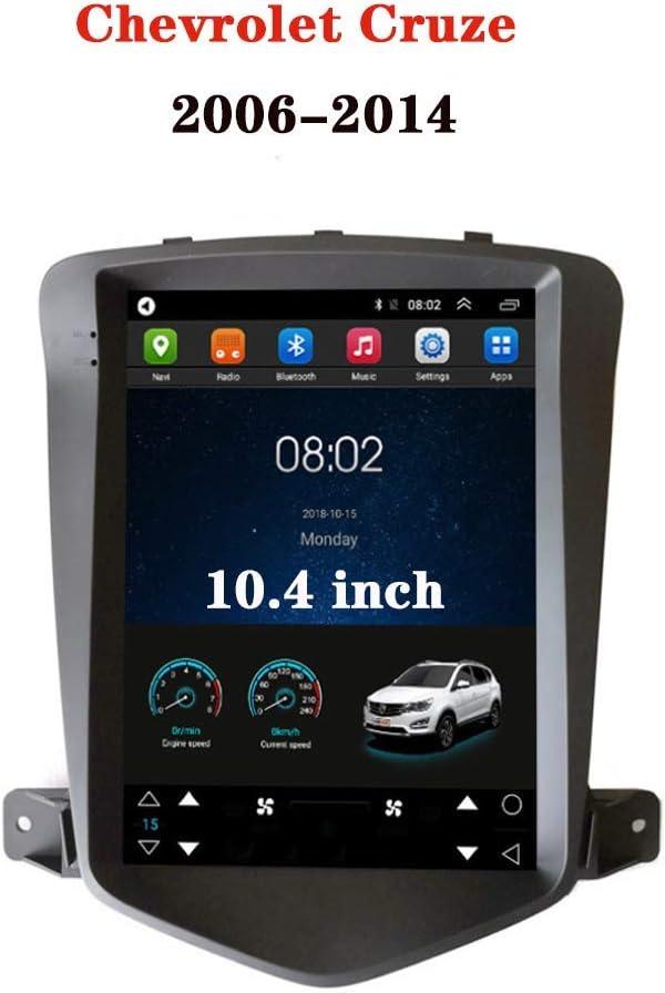 TelKonfig BT ETC 10,4-Zoll-Android 9.0 in Schlag-Auto-Stereo-Radio-MP5 f/ür Chevrolet Cruze 2006-2014 Bremsaufforderung R/ückw/ärts Fahren Super Big Screen