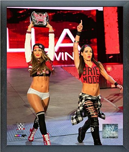 Bella Twins WWE 2015 Action Photo (Size: 17'' x 21'') Framed by WWE