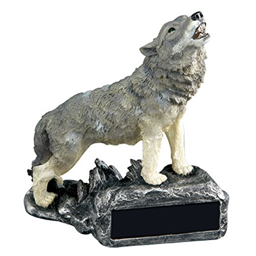 Awards and Gifts R Us Customizable Wolf Howling Mascot Trophy, includes Personalization