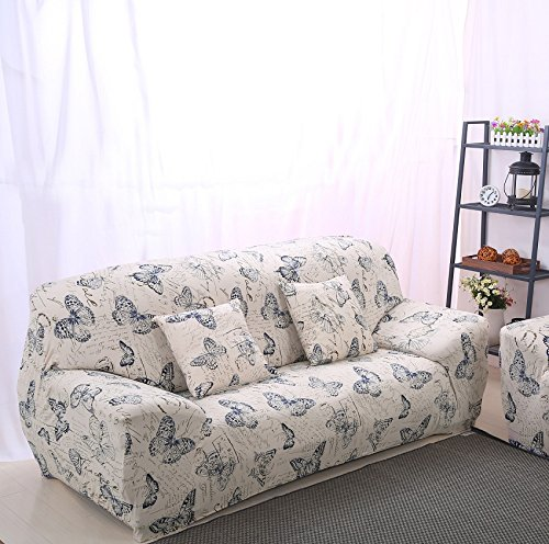 3 Seater 2 Seater - High Elasticity Fabric Sofa Slipcover Couch Cover Protector Three-Seater 74-90 Inch Pattern14