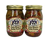 Amish Wedding Foods Zesty Bread & Butter Pickles 2 - 16 oz Jars