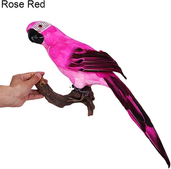 Parrot Bird Artificial Feathered Animal Ornament Garden Hot 45cm