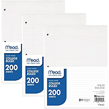 AmazonCom  Tops Notebook Filler Paper College Ruled  X