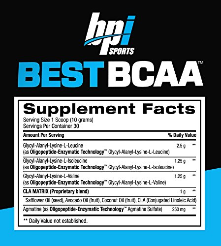 BPI Sports Best BCAA Blueberry Lemonade Branch Chain Amino Acid Powder, Recovery and Muscle 10.58 Ounce (30 Servings)