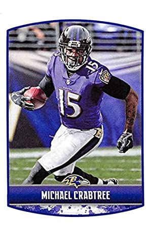 2018 Panini NFL Stickers Collection  78 Michael Crabtree Baltimore Ravens  Official Football Sticker 278690097