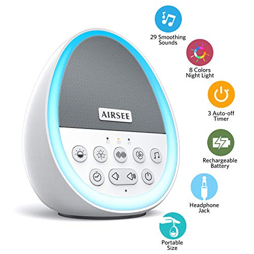 Airsee Portable Rechargeable White Noise Machine