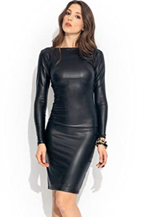 New Women\'s Ladies Plus Size Celeb Style Wet Look Faux Leather ...