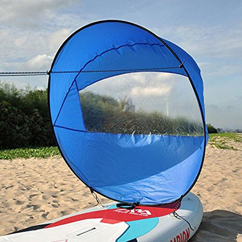 Flashsolar Blue 42'' Kayak Downwind Wind Sail, Foldable Popup Board Paddle Downwind Sail Kit for Kayaks, Canoes, Inflatable boats, Paddle Board by Flashsolar