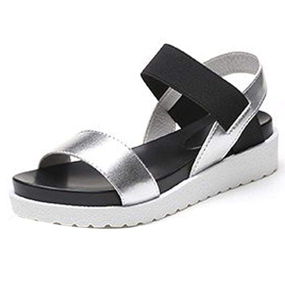 T-shao Sandalias con Plataforma Botines Gruesos De Mujer Zapatos ...