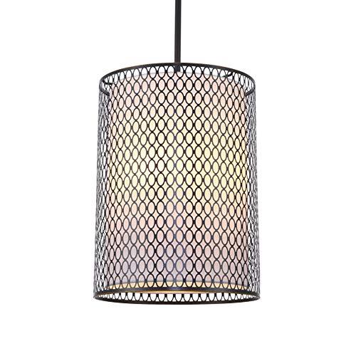 Woodbridge Lighting 16626BRZ Spencer 3-Light Mid-Pendant ()