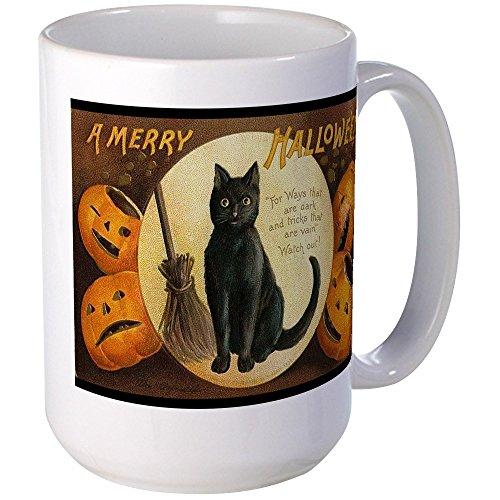 CafePress - Vintage Merry Halloween Large Mug - Coffee Mug, Large 15 oz. White Coffee Cup