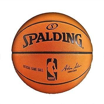 Spalding NBA Piel Juego Pelota Oficial: Amazon.es: Deportes y aire ...