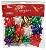 Arts & Crafts : Gift Bows 25 Count Medium Peel N Stick