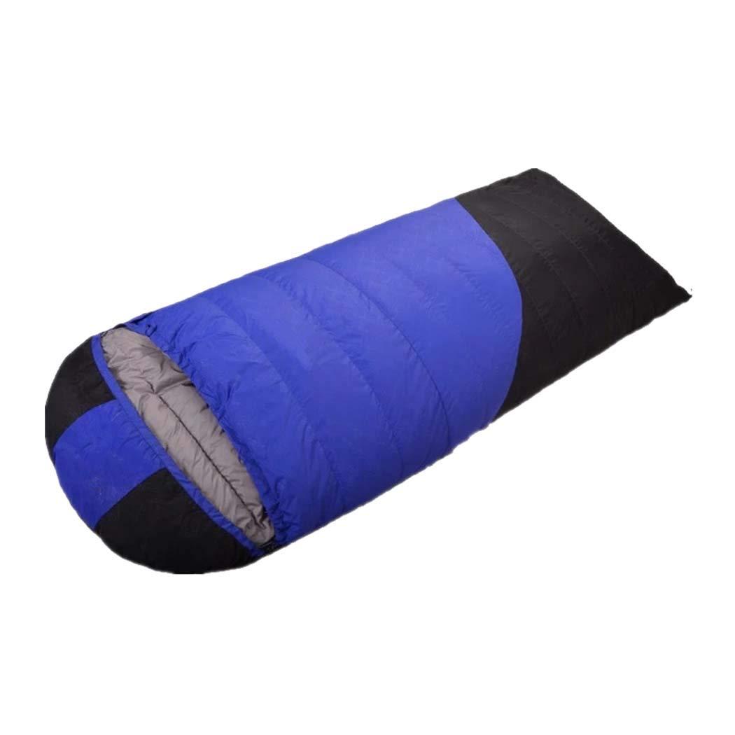 MISS&YG Sacco a Pelo con Busta Calda e Leggera-con Un Sacchetto di Compressione Adatto per Viaggi, Campeggio, Escursioni, attività Indoor ed Outdoor,blu,1800g