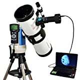 """White 4.5"""" Computer Controlled Reflector Telescope with 14MP Digital USB Camera"""