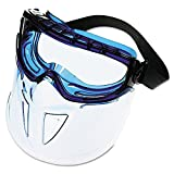 Jackson Safety V90 Shield Clear Anti Fog Lens Protection Goggle with Blue Frame
