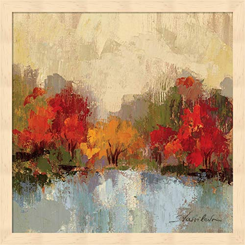 Fall Riverside I by Silvia Vassileva Fine Art Print with Wood Box Frame and Glass Cover, 15 x 15 inches