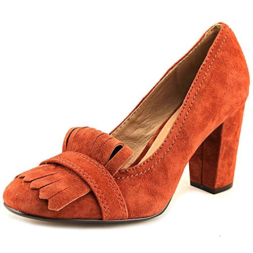 (STEVEN by Steve Madden Womens Jade Leather Round Toe, Rust Suede, Size 5.5 Il3x)