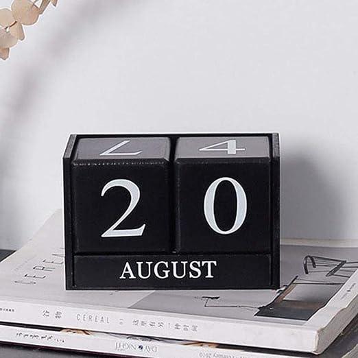 Grea 2019 Pequeña Mesa Blanca Negra Calendario de Escritorio ...
