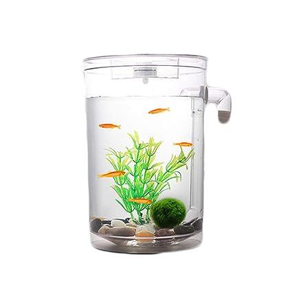 Autolimpiante Desktop Mini Creative Goldfish Bowl, Acuario de Cambio de Agua automático pequeño