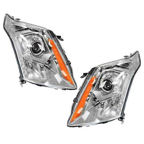 Halogen Headlights Headlamps Left & Right Pair Set for 10-13 Cadillac SRX