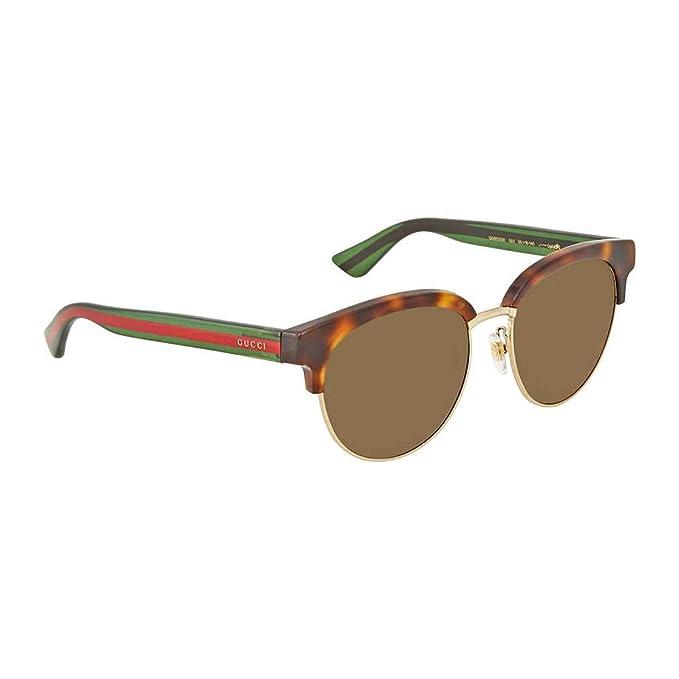 abda3a1029 Gucci Fashion Sunglasses GG0058SK 003 Havana Green Frame And Polarized