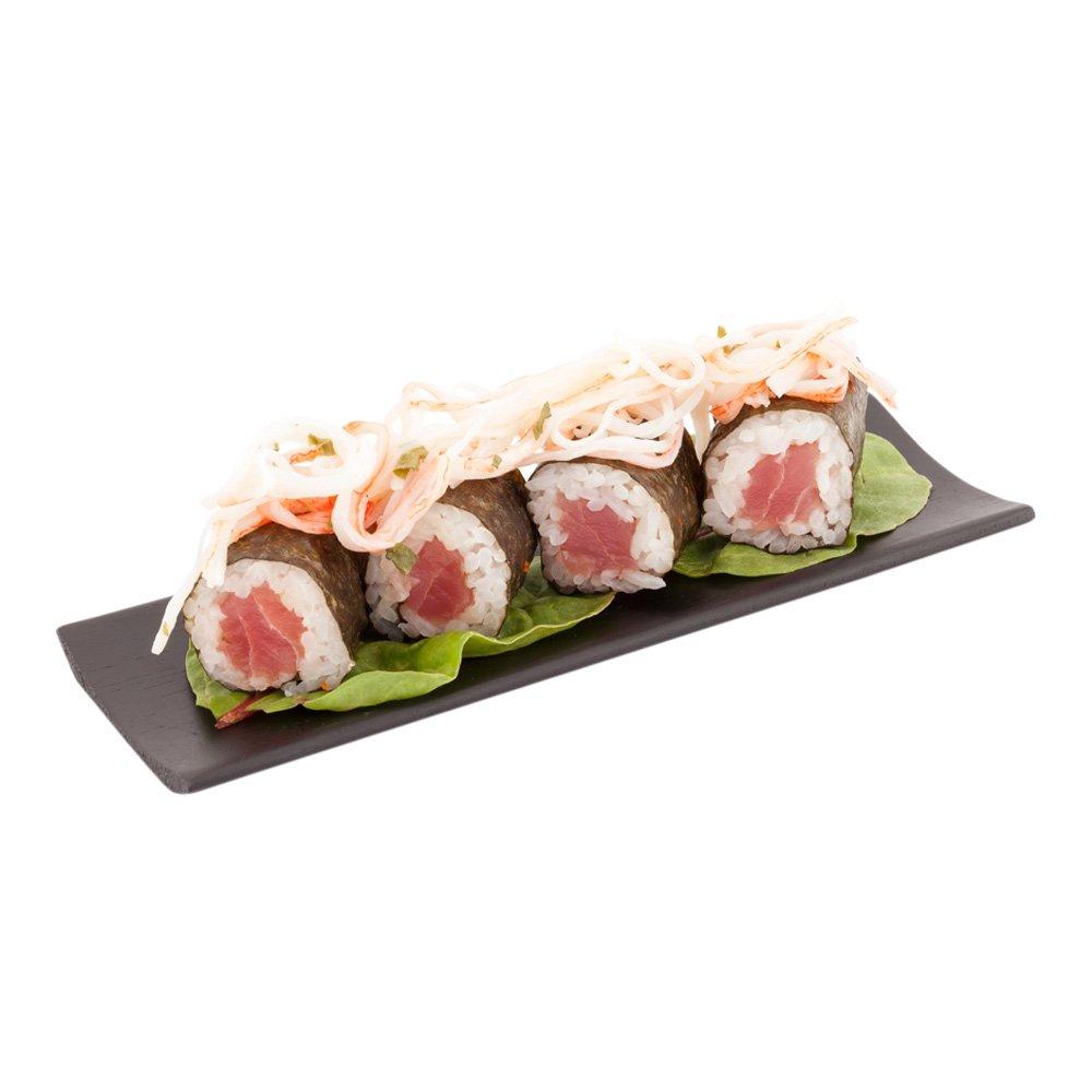 Black Bamboo Serving Plate, Rectangle Serving Plate, Bamboo Appetizer Plate - 7'' - 100ct Box - Restaurantware by Restaurantware