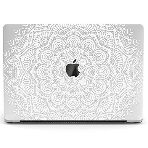 Wonder Wild Mac Retina Cover Case for MacBook Pro 15 inch 12 11 Clear Hard Air 13 Apple 2019 Protective Laptop 2018 2017 2016 2015 Plastic Print Touch Bar Boho White Mandala Ornament Elegant Pattern