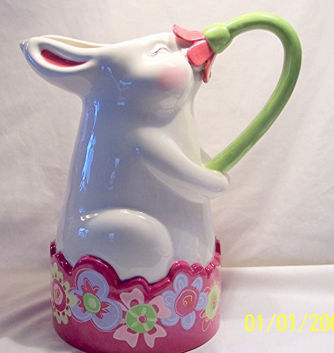 - Department 56 Bunny Pitcher Spring Flower Easter