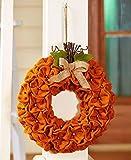 The Lakeside Collection Harvest Gatherings Burlap Pumpkin Wreath
