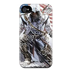 Durable Hard Phone Cases For Iphone 6plus With Allow Personal Design Lifelike Assassins Creed 3 Pattern InesWeldon
