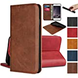 Jaorty for Samsung Galaxy A70 Wallet Case,Premium PU Leather Flip Folio Case with Card Slot, Stand Holder and Magnetic Closure [TPU Shockproof Interior Protective Case] for Samsung Galaxy A70,Brown