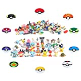 24 Pokemon Figures - Mini Cake Topper Toys - Pikachu Guaranteed Random Bonus Toy