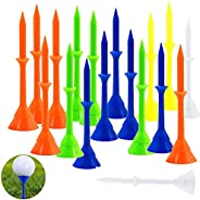 3 1/4 inch Golf tees Plastic Unbreakable Practice Tee Reduced Friction Side Spin Pro Upgrade Step Up